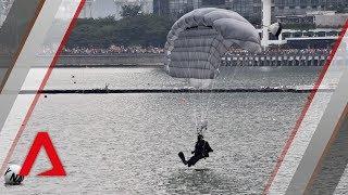 NDP 2018: Navy divers make a splash