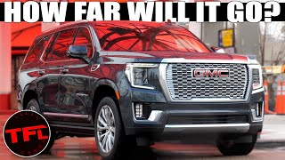 You Won't Believe How Far This Yukon Denali Diesel Will Go On One Tank! Road Trip Review