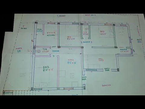 40 30 50 40 West face house plan map naksha YouTube