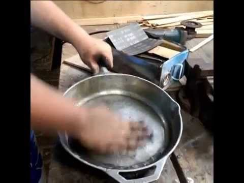 How to Grind and Sand your Cast Iron pan smooth