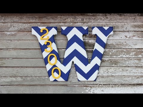 How to make a House Number Monogram
