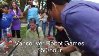 Robots at Surrey Vancouver BC Indian banquet halls and picnic parties