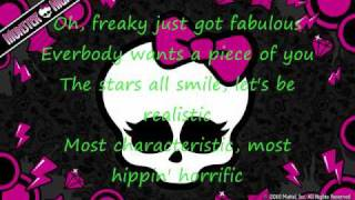 Monster High-- The Fright Song [HQ] Lyrics 2010