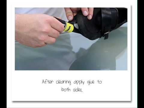 How to fix a shoe-sole? UHU Contact liquid - UHU Kontakt .
