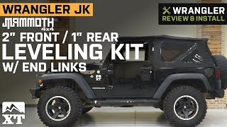 Jeep Wrangler JK Mammoth 2 in. Front / 1 in. Rear Leveling Kit w/ End Links Review & Install