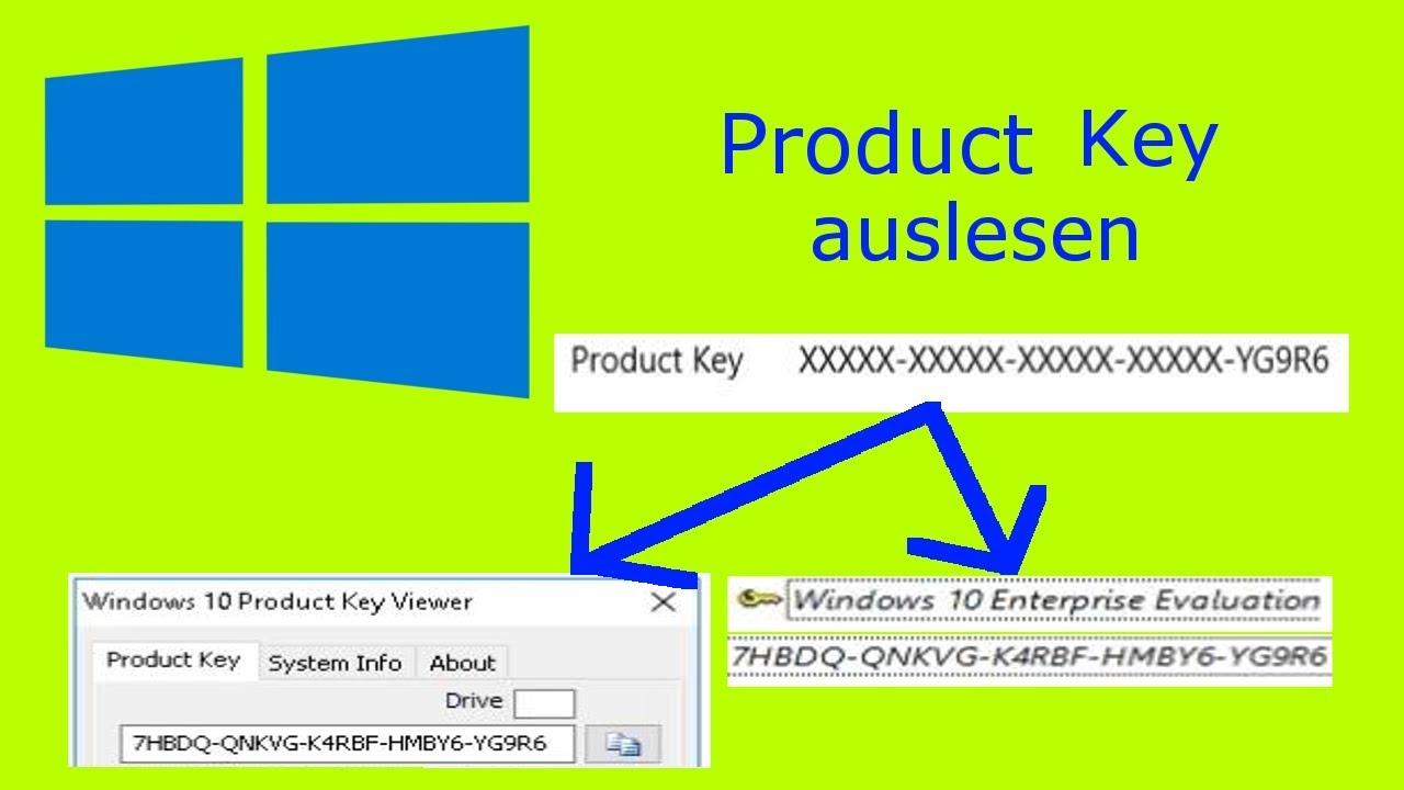 Windows Product Key auslesen   Tutorial