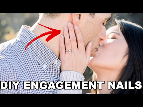 How I Did My Nails For My Engagement Photoshoot! | DIY Nails