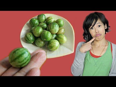 TZIMBALO MELON - Mini Watermelon The Size Of A Grape?! | Fruity Fruits Taste Test