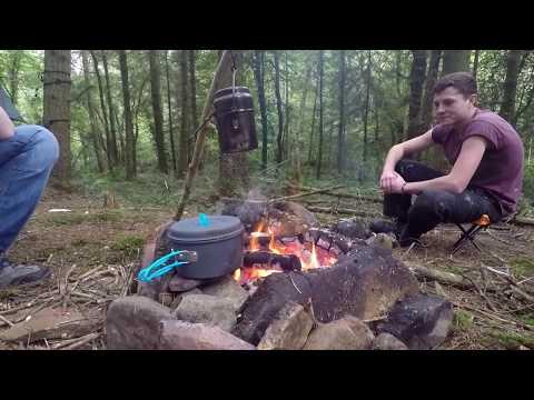 Wildcamp 66: Bushcraft  Hammock in the woods.