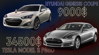 Tesla Model S P85D / Hyundai Genesis | Выгрузка авто из США