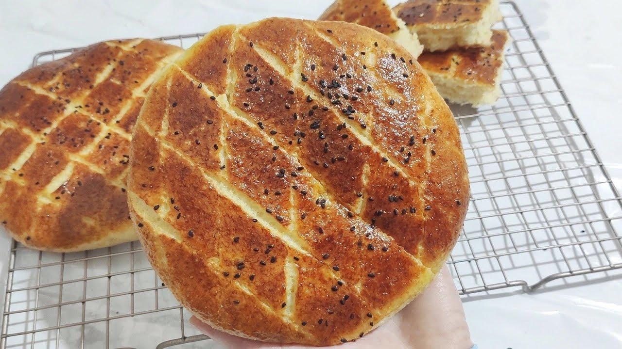 خبز العيد سبيسيال تحسب قاطو😍خفيف ريشة وبنيين بالسميد والفرينة و بدون دلك  😍