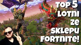 TOP 5 HANG GLIDING FROM FORTNITE BATTLE ROYALE