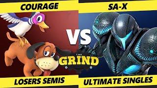 The Grind 147 Losers Semis - SA-X (Dark Samus) Vs. Courage (Duck Hunt) Smash Ultimate - SSBU