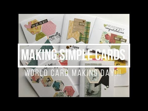World Card Making Day // Simple Cards Using Scraps