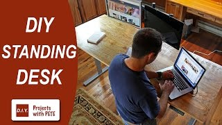 DIY Plywood Top for a Standing Desk | DIY Pete & Stand Modern