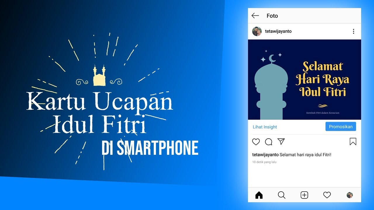 Kartu Ucapan Idul Fitri Pakai Smartphone Bisa Untuk Dikirim Lewat