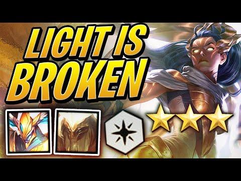 LIGHT Synergy Is ACTUALLY BROKEN! | Teamfight Tactics Set 2 | TFT | League of Legends Auto Chess