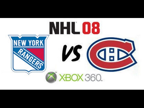 NHL 08 - New York Rangers vs Montreal Canadiens