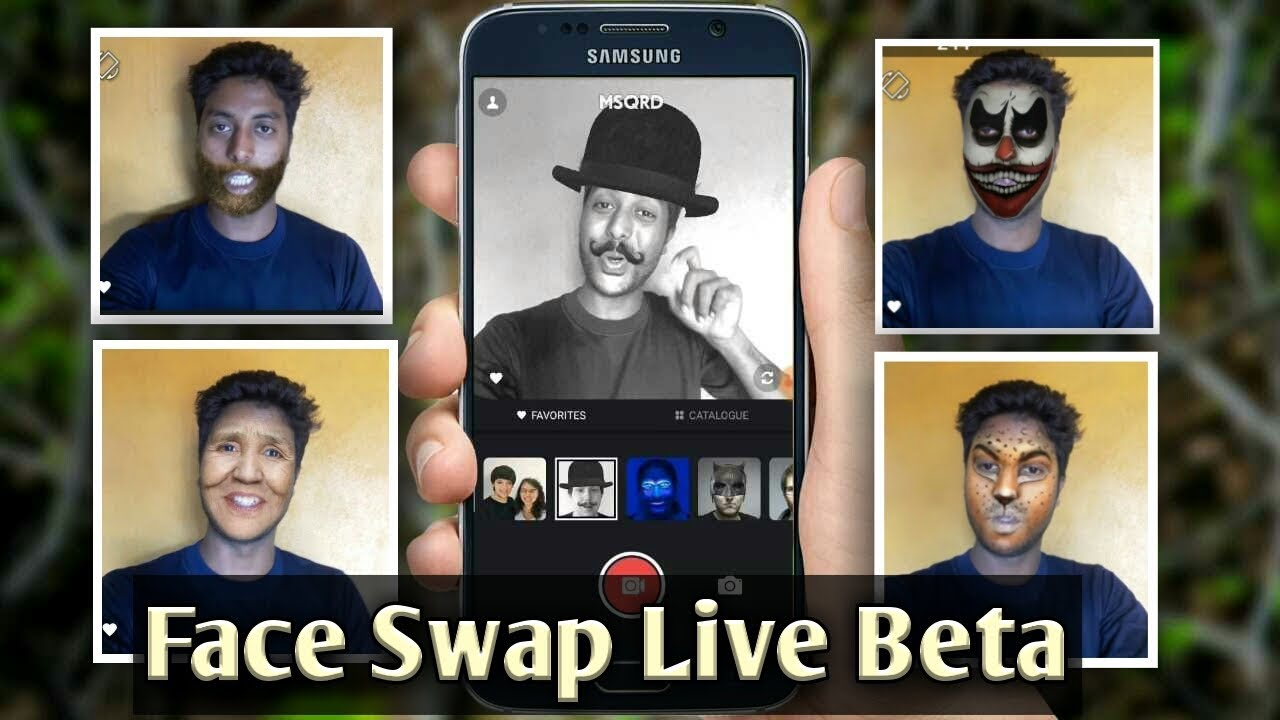 MSQRD Android Face change animation app review