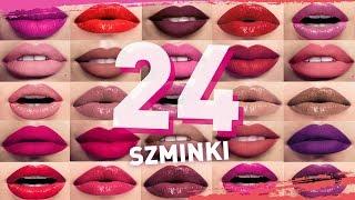 24 SZMINKI - 1 makijaż | Testujemy wszystkie kolory szminek w płynie