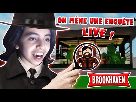 Live Roblox - ON MÈNE L'ENQUÊTE DE LA NOUVELLE MISE À JOUR EN LIVE AVEC VOUS ! (Brookhaven RP)
