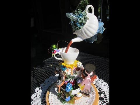 Alice in Wonderland Floating Tea Party art expression part 1