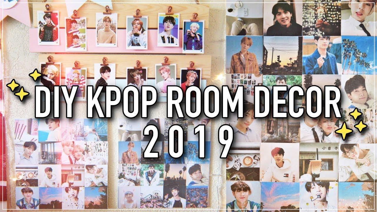 DIY KPOP ROOM DECOR 2019! (BTS, EXO, etc.) - YouTube on Room Decor Bts id=51581