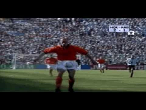 Dennis Bergkamp goal against Argentina - World Cup 1998 (w/ commentary by Jack van Gelder)