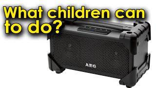 Что могут сделать дети с противоударной колонкой?