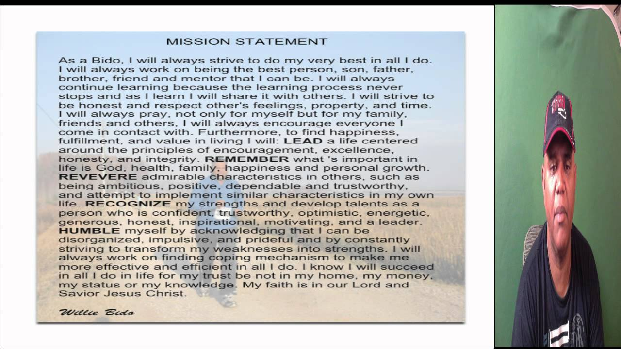 my personal mission statement my personal mission statement