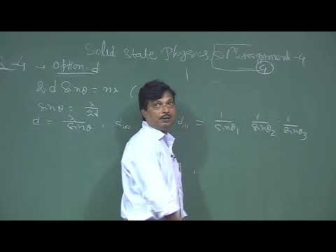 Solid State Physics W 4 assignment solution
