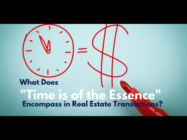 Time Is Of The Essence Clause In A Real Estate Contract In Parker Colorado Brian Chandler