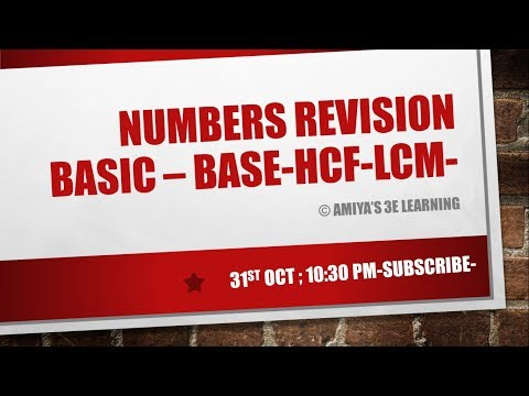 CAT 2017 Number System REVISION
