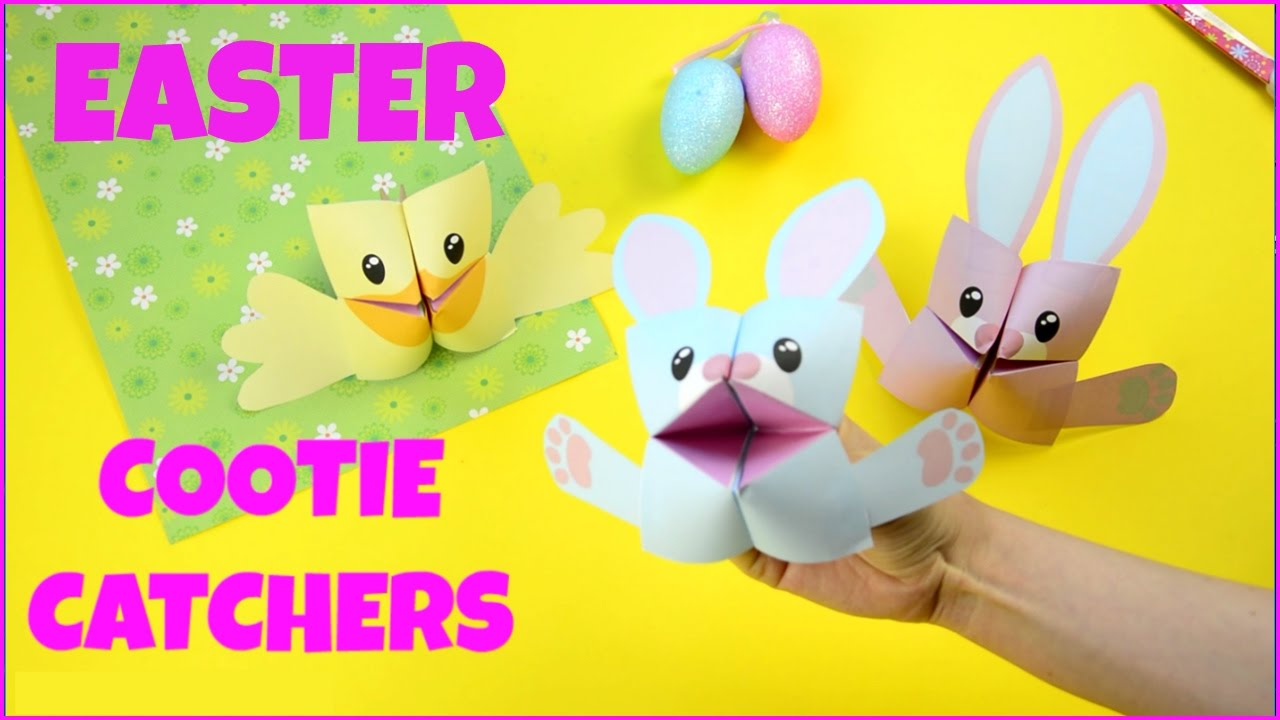 easter cootie catchers easter cootie catchers fortune tellers origami for 1916