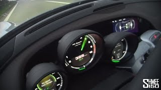 Porsche 918 Spyder on the Autobahn to 202mph / 325km/h