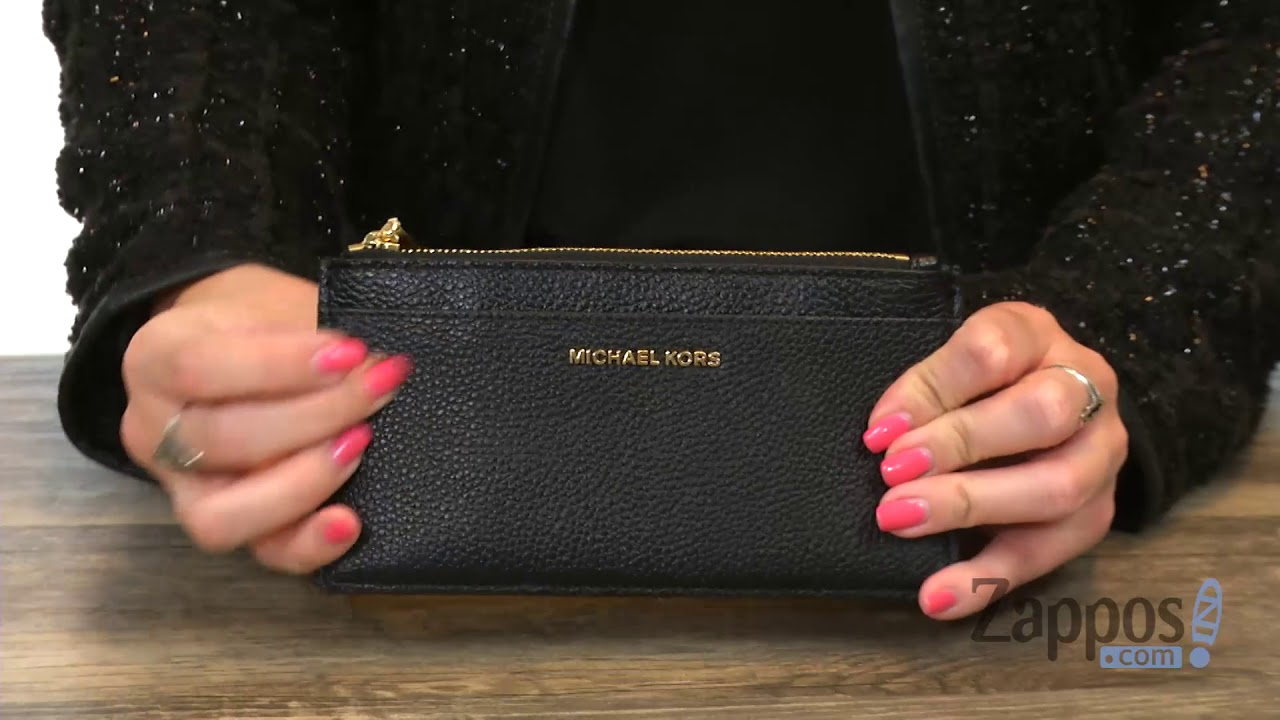 81be14740ca9 MICHAEL Michael Kors Large Slim Card Case SKU: 9068603 - YouTube