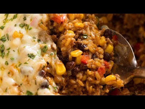 Mexican Ground Beef Rice Casserole
