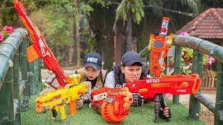 LTT Nerf War : Police Patrol SEAL X Warriors Nerf Guns Fight Criminal Group Dr Lee Sinister