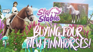 Buying 4 of the NEW FINNHORSES! | Star Stable Updates
