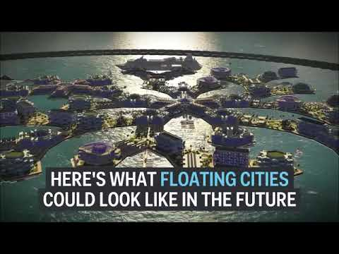 Floating city of the future