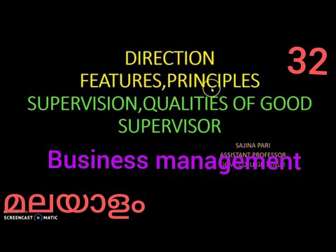 DIRCTION AND SUPERVISION