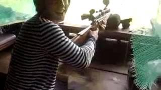 стрельба на полигоне из драгунова blaser r 93 attache steyr aug 223