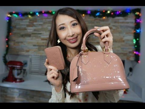 eca96432b554 Wear and Tear Review Louis Vuitton Alma bb Vernis (color transfer dirt  spots discolor) - YouTube