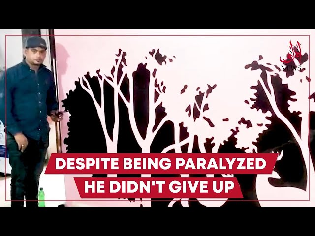 Meet Paralyzed Wall Artist From Karachi
