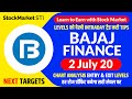 2 July share price targets Bajaj finance | bajaj finance news | Bajaj Finance stock forecast tips