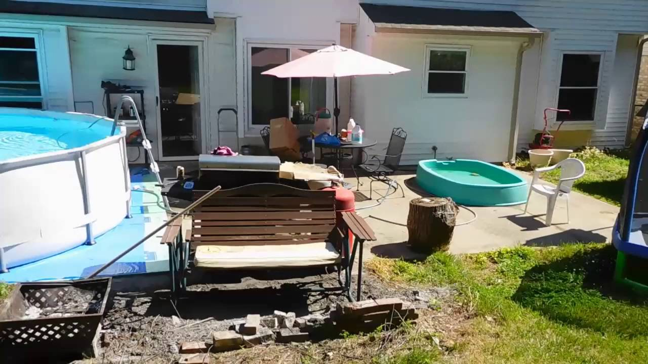 Setting Up A 14 X 42 Pool At My House Youtube