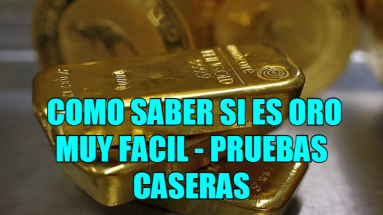 744ec6e04b4c PRUEBAS CASERAS PARA SABER SI ES ORO REAL 2019 - YouTube