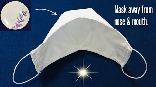 Surely this MASK will not touch the nose and mouth breathable mask DIY very simple