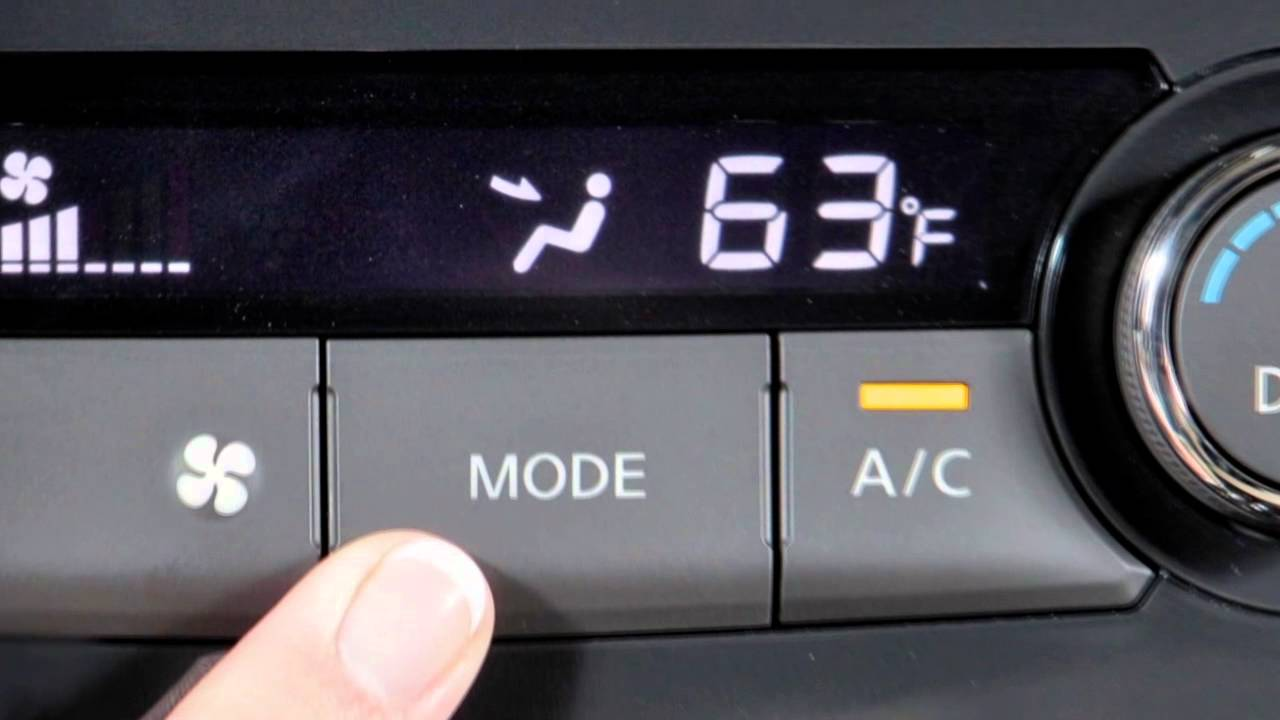 2014 Nissan Altima Climate Controls Youtube