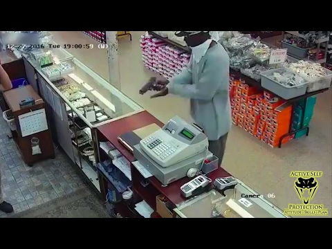 Stupid Robber Brings Jammed Gun to Armed Robbery | Active Self Protection